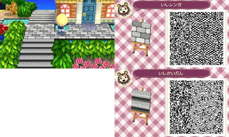 Animal Crossing New Leaf Hhd Qr Code Paths Regarding Stone Path