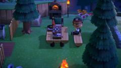 Picknick in warmer Sommernacht