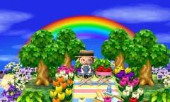 Picknick unterm Regenbogen