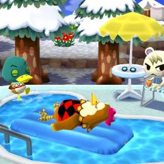 Gemütliche Poolparty