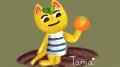 Tanja und die Orange