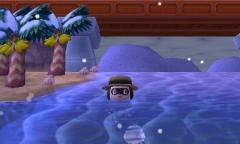 im Schnee schwimmen