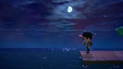 Angeln im Mondschein