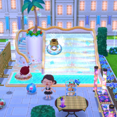 Abendliche Poolparty