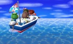 im Boot zurück