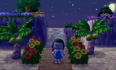tropischer Weg vom Strand nach Fantasy