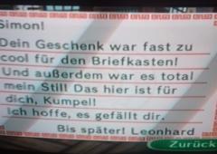 Erinnerungsbrief von Leonhard