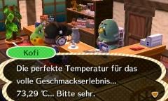 Perfekte Temperatur...