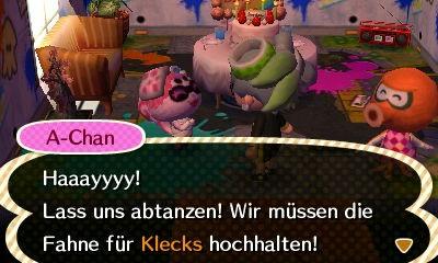 Beim Geburtstag von Klecks