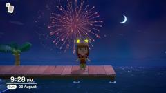 Feuerwerk bei sternenklarem Himmel