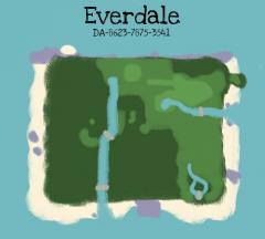 selbstgemachte Karte von Everdale