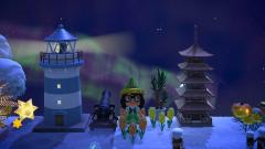 Leuchtturm und Polarlichter